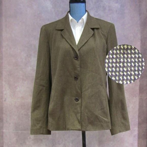 Rafaella Jackets & Blazers - Rafaella Brown Check Blazer Size 14